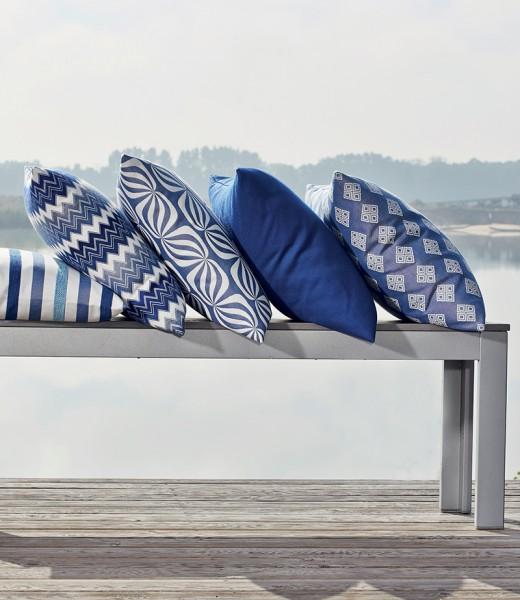 Polsterstoff Möbelstoff Berlin - Polyacryl - Teflon blau gestreift