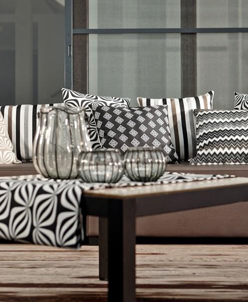 Polsterstoff Möbelstoff Berlin - Polyacryl - Teflon grau gestreift
