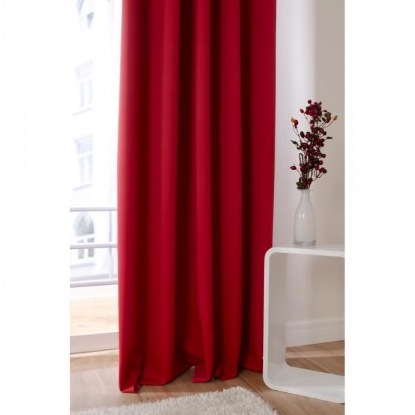 Gardinenstoffe Vorhangstoffe Dimmer Queen Uni Rot