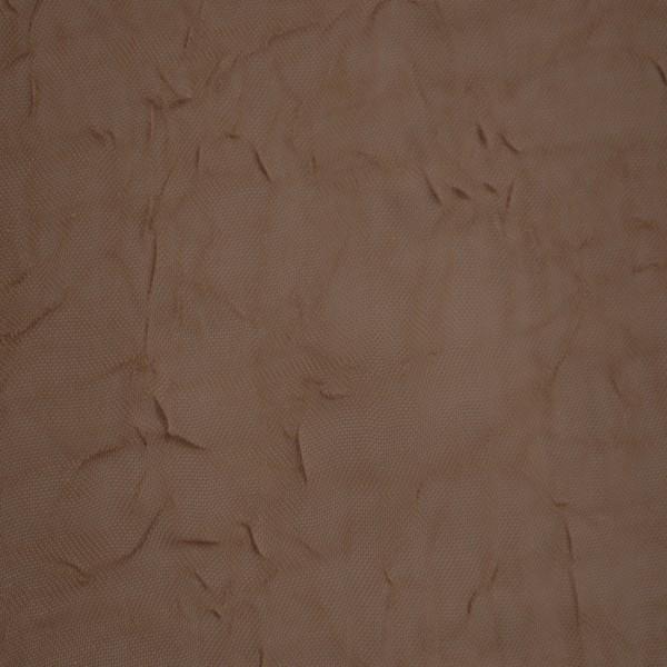 Gardinenstoffe Vorhangstoffe Transparent Sandy Crash Uni Braun