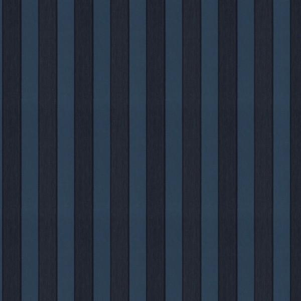 Polsterstoff Möbelstoff Aldosa - blau gestreift