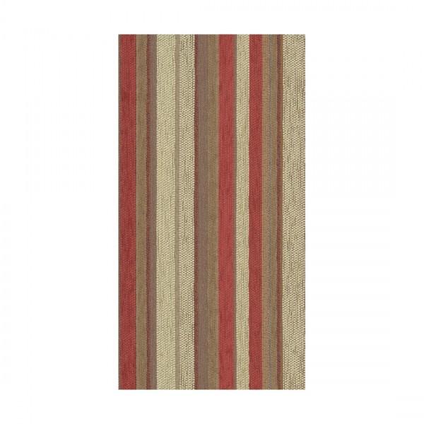 Polsterstoff Möbelstoff Arosa - Polyester - Teflon rot-beige