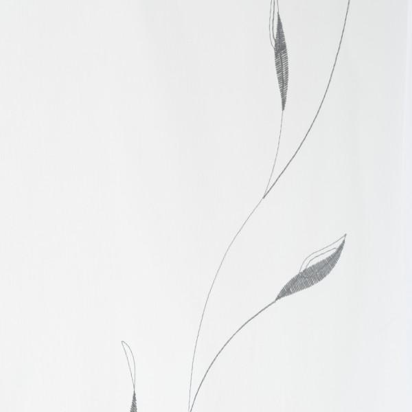 Gardinenstoffe Vorhangstoffe Transparent Jordan Natur Grau